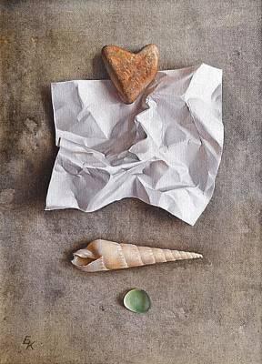 Unwritten Letter 1 Art Print by Elena Kolotusha