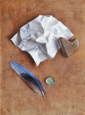 Painting - Unwritten Letter 2 by Elena Kolotusha