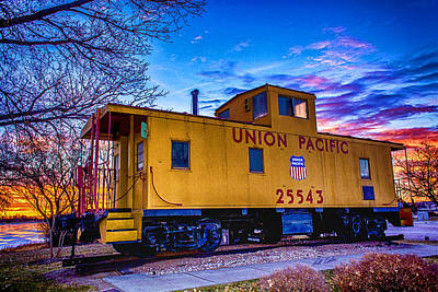 Photograph - Up 25543 - Caboose Art by Bill Kesler