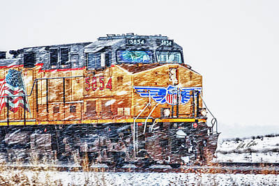Photograph - Up 5854 In The Snow by Bill Kesler