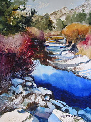 Teton Painting - Up A Creek by Kris Parins
