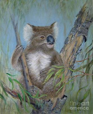Koala Painting - Up A Gum Tree by Rita Palm