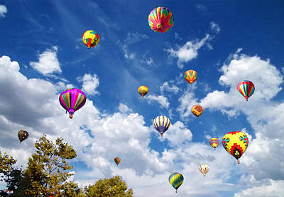 Photograph - Up And Away - Hot Air Balloons by Glenn McCarthy Art and Photography