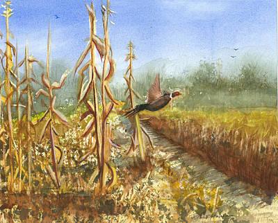 Cornstalks Painting - Up And Away by Robert  ARTSYBOB Havens
