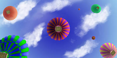 Digital Art - Up And Away by Steve Karol