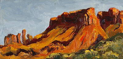 Painting - Up From Onion Creek Castle Valley Moab Utah by Zanobia Shalks