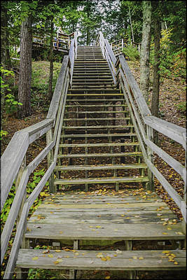 Stairs Photograph - Up From The Au Sable by LeeAnn McLaneGoetz McLaneGoetzStudioLLCcom