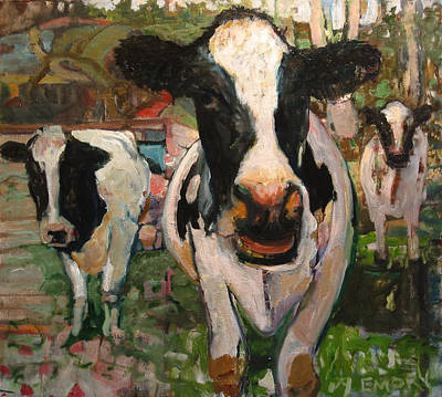 Painting - Up Front Cows by Paul Emory