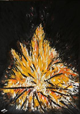 Pyre Painting - Up In Flames by Anupama Arora Mallik