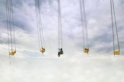 Funfair Photograph - Up In The Air! by Marius Cintez?