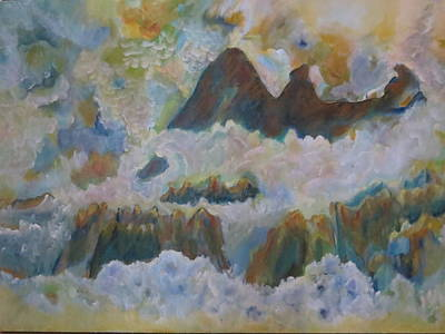 Abstract Painting - Up On Cloud Nine by Soraya Silvestri