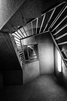 Staircase Photograph - Up Or Down Staircase by Everet Regal