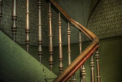 Creepy Digital Art - Up Stairs  by Nathan Wright