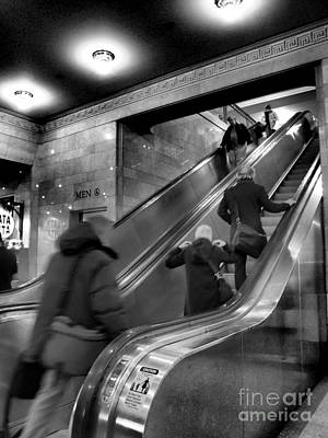 Photograph - Up The Down Staircase - Grand Central At Rush Hour by Miriam Danar