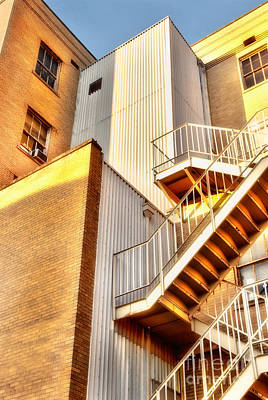 Photograph - Up The Down Staircase - Greensboro by Dan Carmichael