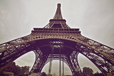 Photograph - Up The Eiffel by Matt MacMillan