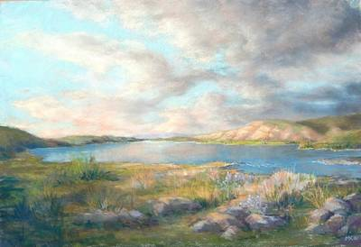 Pastel - Up The River - Columbia by Marlene Kingman