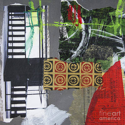 Hand Painted Art Work Mixed Media - Up The Stairs by Elena Nosyreva