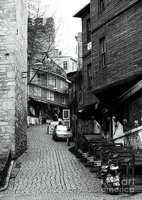 Up The Hill Photograph - Up The Street In Istanbul by John Rizzuto