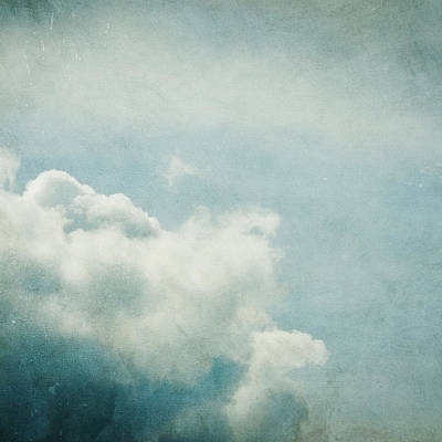 Clouds Photograph - Up There by Violet Gray