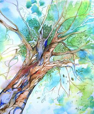 Up Through The Leaves Art Print by Maya Simonson