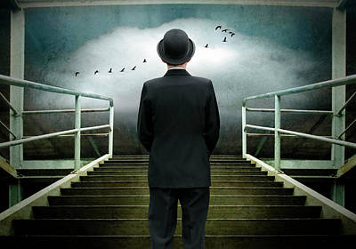 Surreal Photograph - Up To A Fantasy World... by Ben Goossens