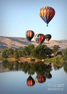 Up Up And Away Art Print by Carol Groenen