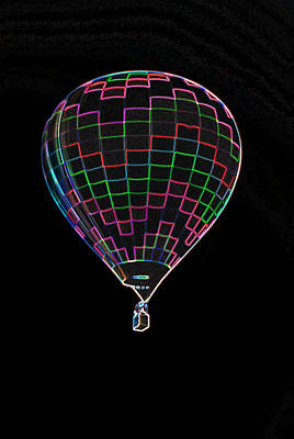 Up Up And Away In Neon Art Print