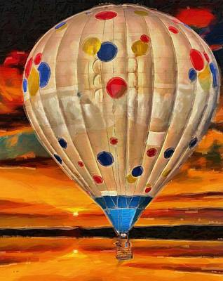 Polkadots Painting - Up Up And Away  by L Wright