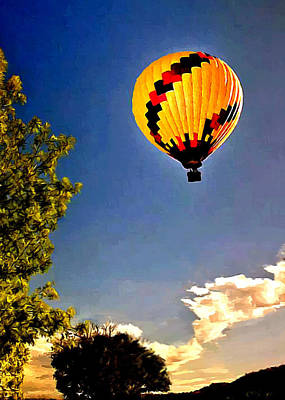 Photograph - Up Up And Away My Beautiful Balloon by Bob and Nadine Johnston