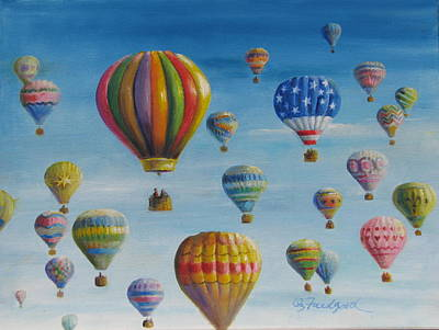 Painting - Up Up And Away by Oz Freedgood