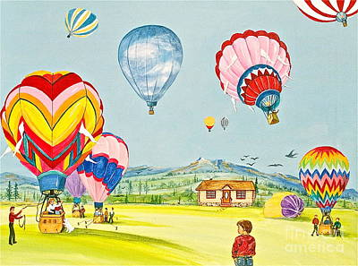 Banff Artist Painting - Up Up And Away by Virginia Ann Hemingson