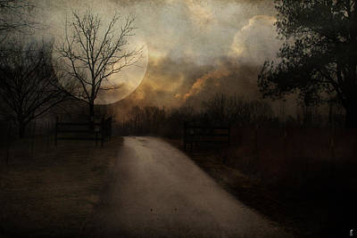 Photograph - Uphill In The Moonlight by Jai Johnson