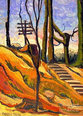 Brilliant Painting - Uphill Lines by Charlie Spear