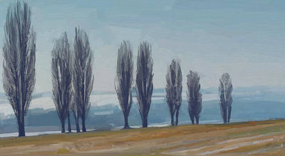 Zuid Limburg Painting - Uphill Wittem Eys by Nop Briex