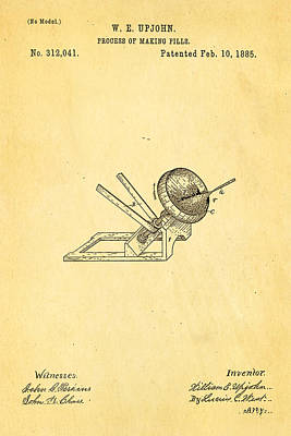 Pill Photograph - Upjohn Dissolvable Pill Patent Art 1885 by Ian Monk