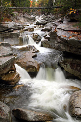 No People Photograph - Upper Ammonoosuc Falls by Brett Pelletier