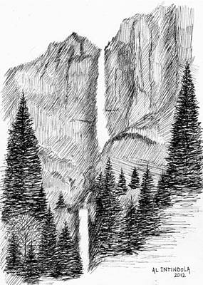 Upper And Lower Falls Art Print