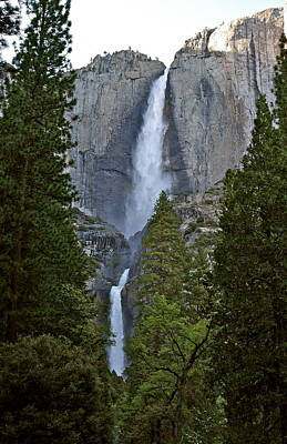 Photograph - Upper And Lower Yosemite Falls At Evening by Michele Myers