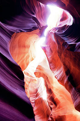 Sandstone Photograph - Upper Antelope Canyon by Powerofforever