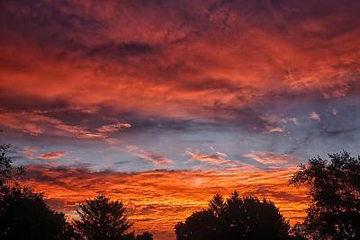 Photograph - Upper Arlington Sunrise by Beth Akerman