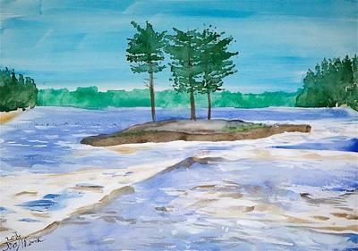 Upper Basswood Falls Original by Troy Thomas