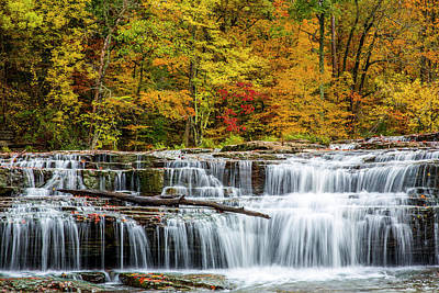 Upper Cataract Falls On Mill Creek Art Print by Chuck Haney