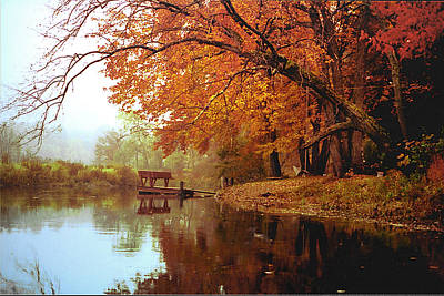 Photograph - Upper Charles River In Autumn by Roger Soule