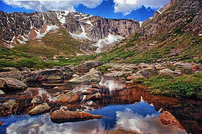 Mountain Reflection Lake Summit Mirror Photograph - Upper Chicago Lake by Brian Kerls