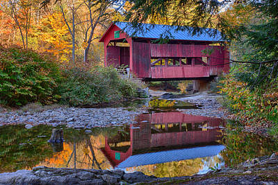 Photograph - Upper Cox Brook Covered Bridge by Jeff Folger