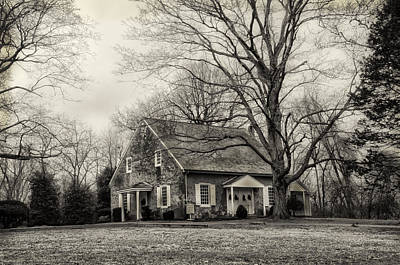 Quaker Photograph - Upper Dublin Meetinghouse In Sepia by Bill Cannon