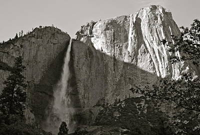 Photograph - Upper Yosemite Falls Composition In Triangles by Michele Myers