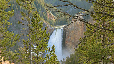 Photograph - Upper Falls Yellowstone National Park by Jennie Marie Schell