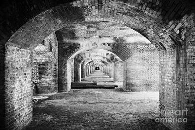Upper Floor Brick Archway Corridors In Fort Jefferson Dry Tortugas National Park Florida Keys Usa Art Print